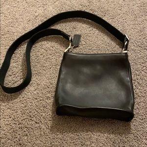 Black Leather Coach crossbody